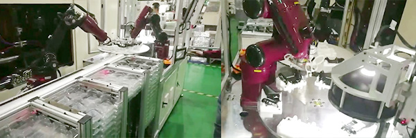 Up and down material of six axis robot for injection industry