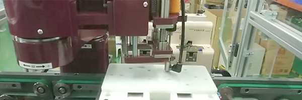 Line automatic screwing machine